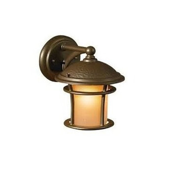 allen + roth Aztec 9-1/2-in Bronze Outdoor Wall Light 39326
