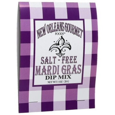New Orleans Gourmet Foods Orleans Gourmet Foods Salt Free Mardi Gras Dip Mix, 1-Ounce Bags (Pack of 6)