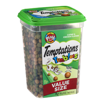 Temptations Tumblers Treats For Cats Catnip & Chicken Flavors