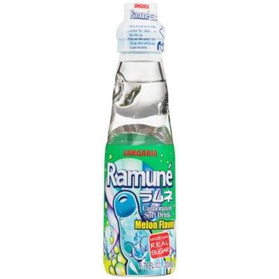 Sangaria Ramune Melon Flavor Carbonated Soft Drink, 6.76 fl oz