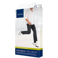 Sigvaris Casual Cotton 15-20mmHg Closed Toe Men's Knee High Sock Size: B (9-11), Color: Navy 10