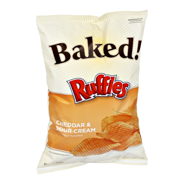 Ruffles Potato Crisps Baked! Cheddar & Sour Cream