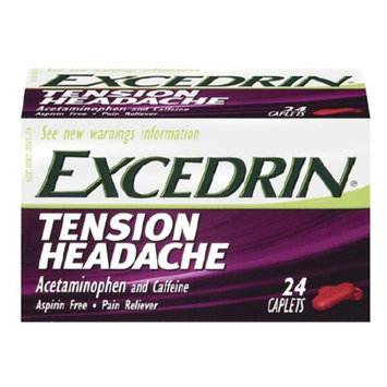 Excedrin Tension Head Ache Pain Reliever Caplets - 24 Count