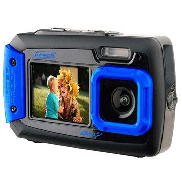 Coleman 20.0 Megapixel Duo2 Dual-Screen Waterproof Digital Camera -…