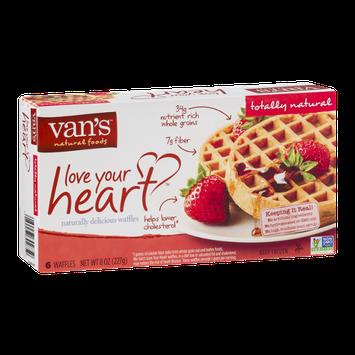 Van's Natural Foods Love Your Heart Waffles - 6 CT