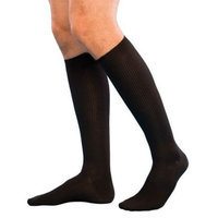 Sigvaris Casual Cotton 15-20mmHg Closed Toe Men's Knee High Sock Size: B (9-11), Color: Khaki 30