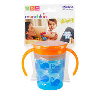 Munchkin 6 Ounce 360 Degree Miracle Trainer Cup - Blue Whale