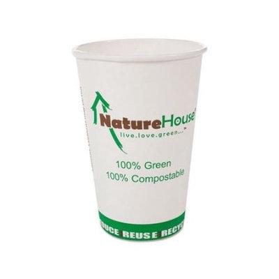 NatureHouse Compostable Paper/PLA Cup 12oz White 1000/Carton (NatureHouse NAHC012)
