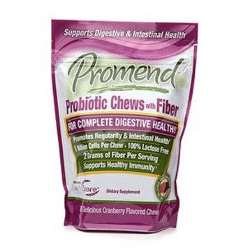 Promend Probiotic Soft Chews with Fiber Cranberry