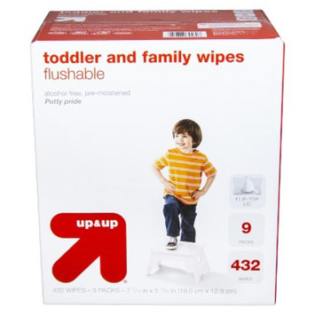 up & up Toddler and Family Flushable Wipes 432 ct