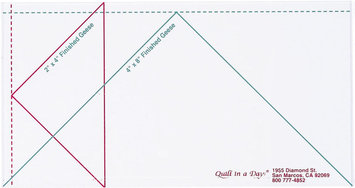Quilt In A Day Inc. Quilt In A Day Flying Geese Ruler Large