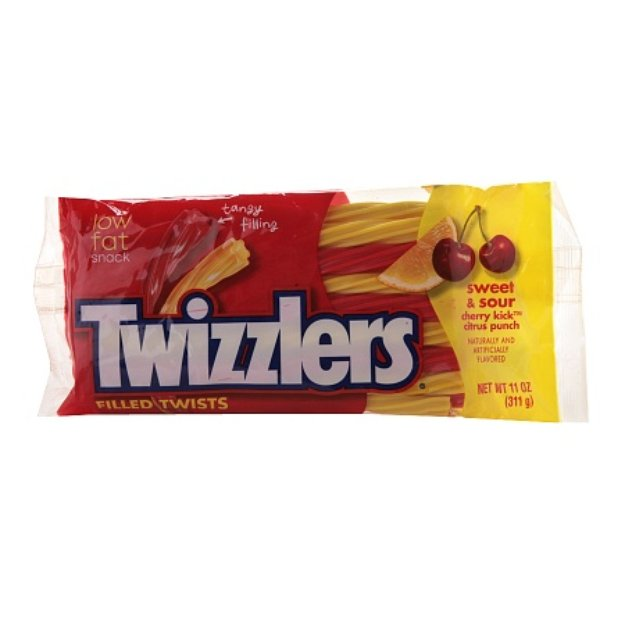 Twizzlers Filled Twists Sweet & Sour Candy