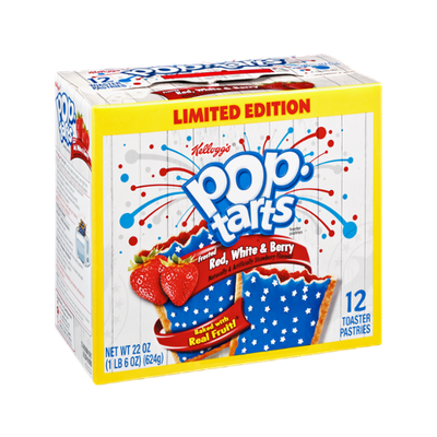 Kellogg's Pop-Tarts Frosted Red, White & Berry Toaster Pastries