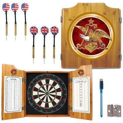 Trademark Commerce Trademark Anheuser Busch A & Eagle Dart Cabinet w/ Darts and Board