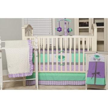 Pam Grace Creations Love Birds Lavender Argyle 6pc Crib Set by Pam Grace