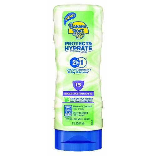 Banana Boat Protect And Hydrate Sunscreen Lotion With SPF 15