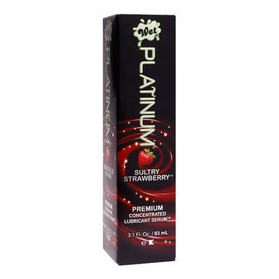 Wet Platinum Premium Concentrated Lubricant Serum Sultry Strawberry