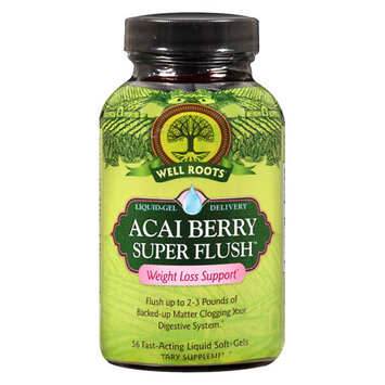 Well Roots Acai Berry Super Flush Weight Loss Support, Softgels