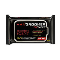 MANGROOMER Biz Wipes Flushable Moist Personal Wipes for Men Executive Scent
