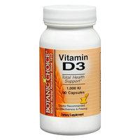 Botanic Choice Vitamin D3 1000 IU Dietary Supplement Capsules