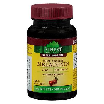 Finest Natural Melatonin Quick Dissolve 3 mg Cherry