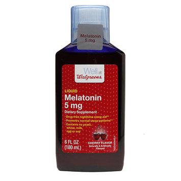 Walgreens Melatonin 5 mg Cherry - 6 oz.