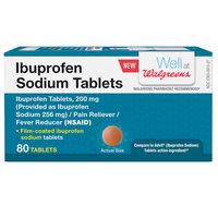 Walgreens Ibuprofen Sodium Tablets, 80 ea