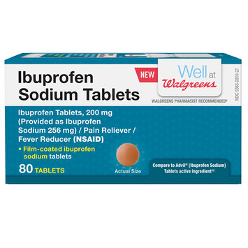 Walgreens Ibuprofen Sodium Tablets, 80 ea