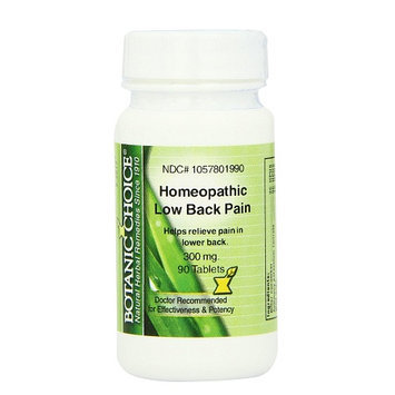 Botanic Choice Homeopathic Low Back Pain Formula, Tablets