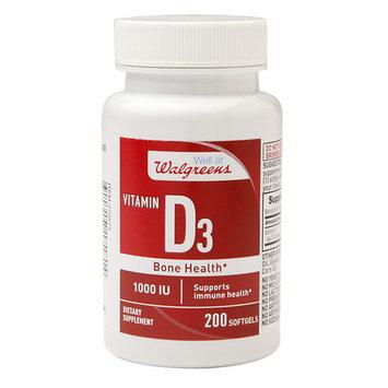 Walgreens Red Vitamin D3 1000 IU, Softgels