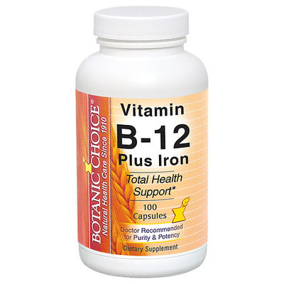 Botanic Choice Vitamin B-12 Plus Iron 100 capsules