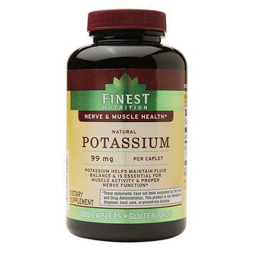 Finest Nutrition Natural Potassium, 99 mg, Caplets