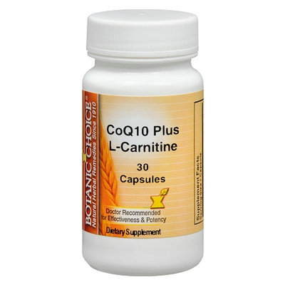 Botanic Choice CoQ10 plus L-Carnitine Dietary Supplement Capsules