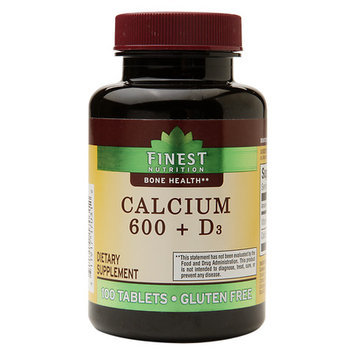 Finest Nutrition Calcium 600 + D3, Tablets
