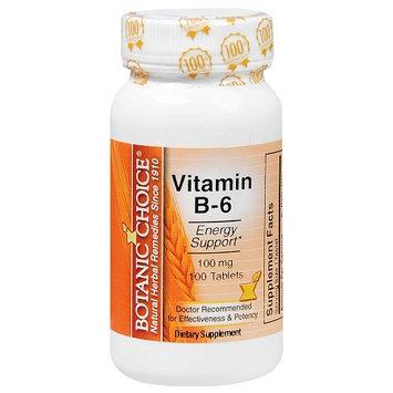 Botanic Choice Vitamin B-6 100 mg Dietary Supplement Tablets