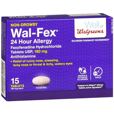 Walgreens Wal-Fex Allergy 24 Hour Tablets