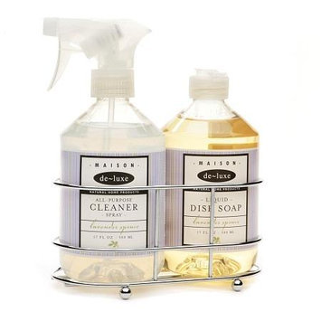 de-luxe MAISON Cleaning Caddie, Dish Soap & Spray Cleaner, Lavender Spruce
