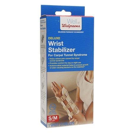 Walgreens Deluxe Wrist Stabilizer Left, S/M, 1 ea