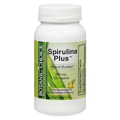 Botanic Choice Spirulina Plus 500 mg Herbal Supplement Tablets