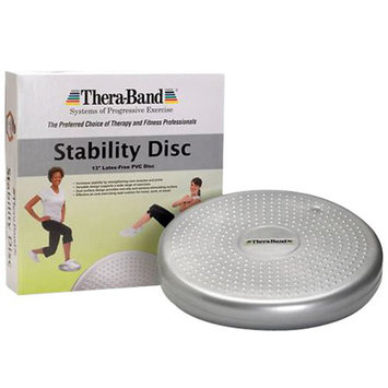 TheraBand Stability Disc, Active Sitting / Advanced Sport, Silver (Inflated) - 1 ea