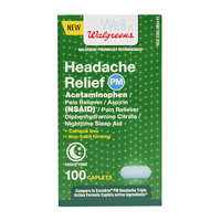Walgreens Headache Relief NSAID PM Caps, 100 ea