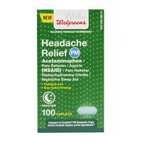 Walgreens Headache Relief NSAID PM Caps, 100 ea