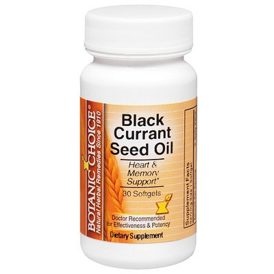 Botanic Choice Black Currant Seed Oil Dietary Supplement Softgels