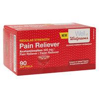 Walgreens Regular Strength Pain Reliever 325 mg Softgels, 90 ea