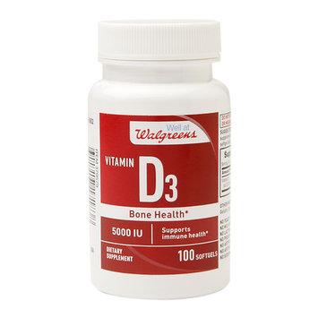 Walgreens Red Vitamin D3 5000 IU, Softgels