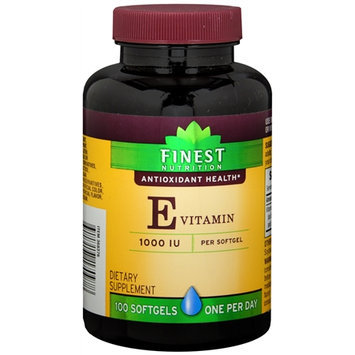 Finest Nutrition Vitamin E, Softgels