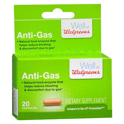 Walgreens Gas-X Prevention, Food Enzyme Capsules, 20 ea