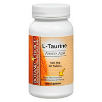 Botanic Choice L-Taurine 500 mg Dietary Supplement Tablets