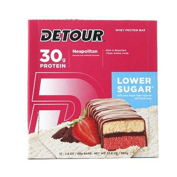 Forward Foods Detour Lower Sugar Whey Protein Bar Neapolitan 12 Bars