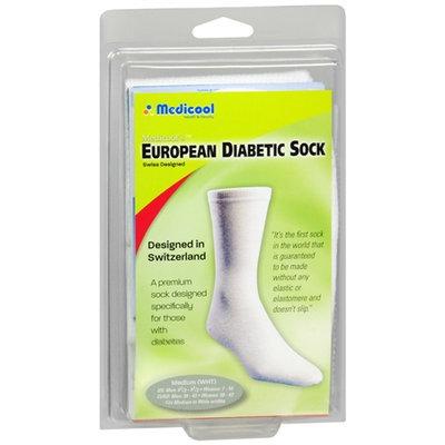 MEDICOOL SOX-W-MED Medium Euro Comfort Socks - White